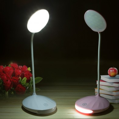 Ajustável Recarregável Dimmable Sensor de Toque LED Reading Night Table Light Desk Lamp