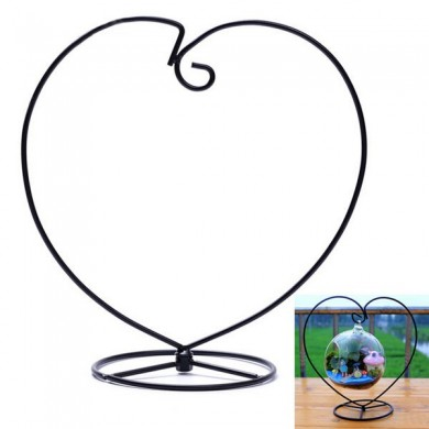 Micro Landscape Suspension Heart Shaped Hob Iron Rack Garden Decor