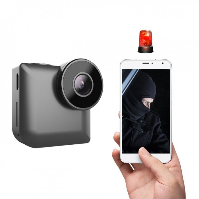 XANES C3 Mini Wifi HD 720P 140° Angle Night Vision Camera Video Recording Motion Detection Alarm