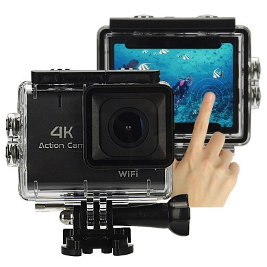 "XANES M22 4K WiFi Sport Camera 1.8"" Touch Screen Vlog Camera for Youtube Waterproof DV Video Action Camera 140° Wide Angle"
