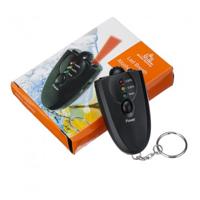 Mini Portable Alcohol Tester Blown Type Vehicle Digital Display LED Tester