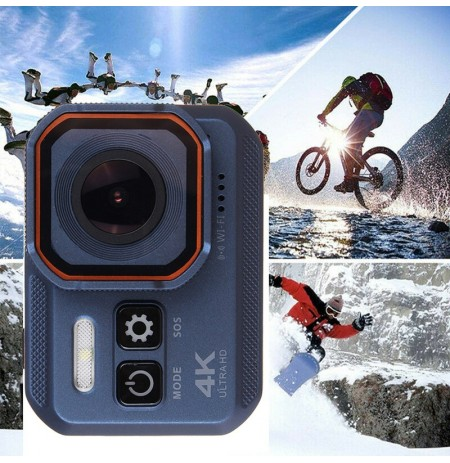 iMars 4K SOS WiFi Flashlight WDR Record Waterproof Sport Vlog Car DVR Camera