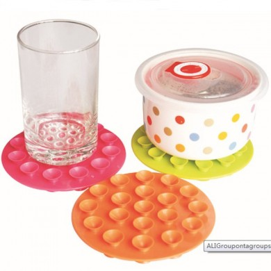 Baby Bowl Coasters Children Sided Suction Cup  Anti Skid Pad