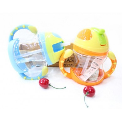 Baby Kid Lovely Durable Straw Cup Drinking Leakproof Bottle Sippy Cup With Handle
