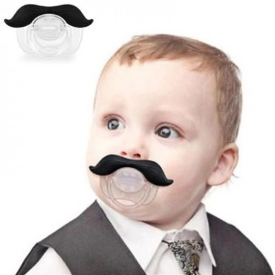 Funny Mustache Pacifier Dummy Beard Nipples Baby Boy Girl Infant Pacifier Orthodontic