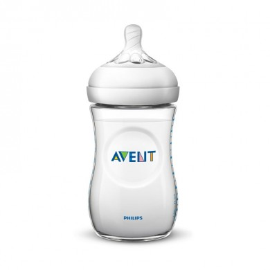Avent 260ml BPA Free Natural Polypropylene Nursing Bottle Baby Feeding Cup Infant Nipple