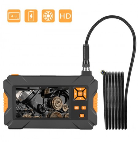 P30 4.3inch High-definition 1080P Display  Screen Hosepipe Borescope IP67 Waterproof 1M/3M/5M Orange Hand-held Industrial Boresc