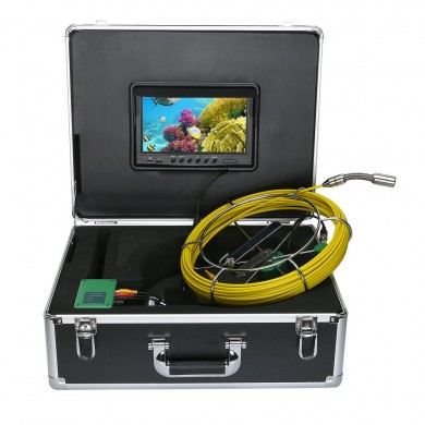 20M Pipe Inspection Video Camera, 8GB TF Card DVR IP68 Drain Sewer Pipeline Industrial Borescope