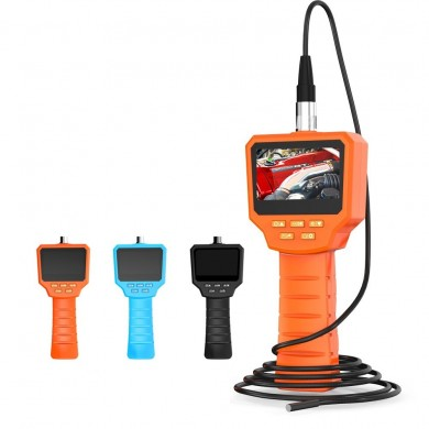 Inskam128 3 inch IPS Screen Digital Detection Borescope 5.5mm Lens 3/5/10M Hard Wire Orange