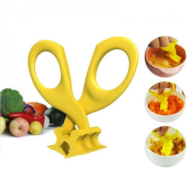 Real Bubee Baby Food Scissors Blister Crush Baby Food Supplement Scissors Children Tableware