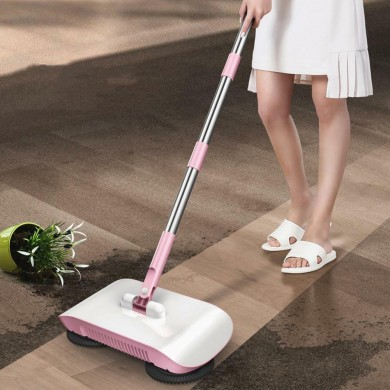 LyRay Hand Push 2 in 1 Sweeping Machine Push Type Household Floor Cleaning Mop Broom Sweepers Dustpan