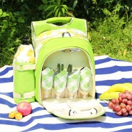 600D Oxford Cloth Camping Picnic Bag Portable Food Container Storage Bag With 2/4 Person Tableware