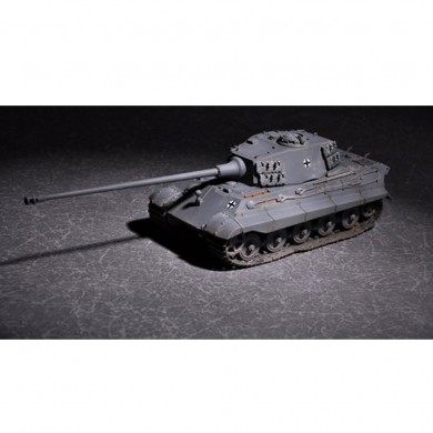 Trumpeter 1:72 German King Tiger DIY Assembled Tank Henschell Turret with 105mm Kwk L/65 Barrel Static Model Building Set