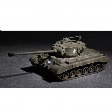 Trumpeter 1:72 US M26 DIY Assembled Tank with 90mm T15E2M2 Barrel Static Model Building Set