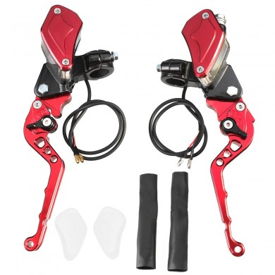 "7/8"" 22MM Brake Master Cylinder Levers Motorcycle Brake Clutch Master Cylinder Reservoir Levers"
