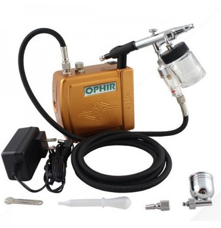 OPHIR Mini Airbrush Compressor Turtle Pump Set Tattoo Machine