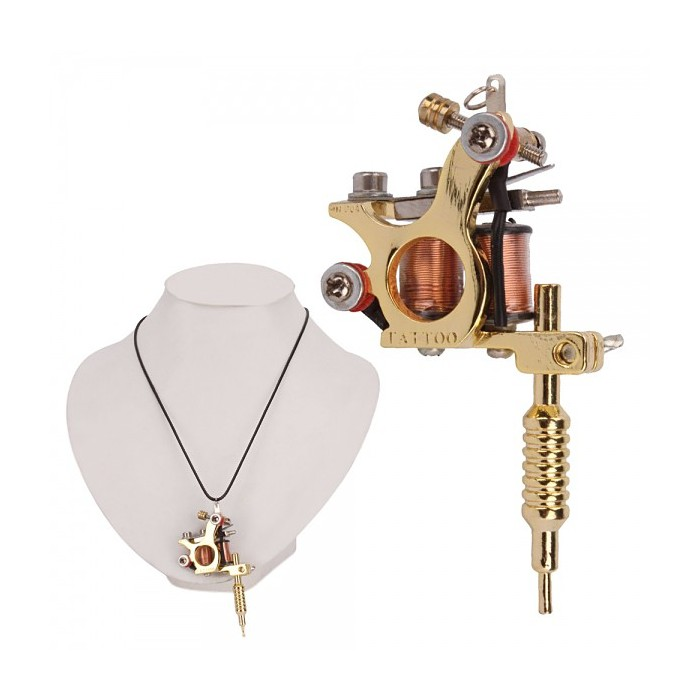 Golden gs100 fashion mini tattoo machine pendant toy with chain necklace ocoocoo golden gs100 fashion mini tattoo machine pendant toy with chain necklace aloadofball Gallery