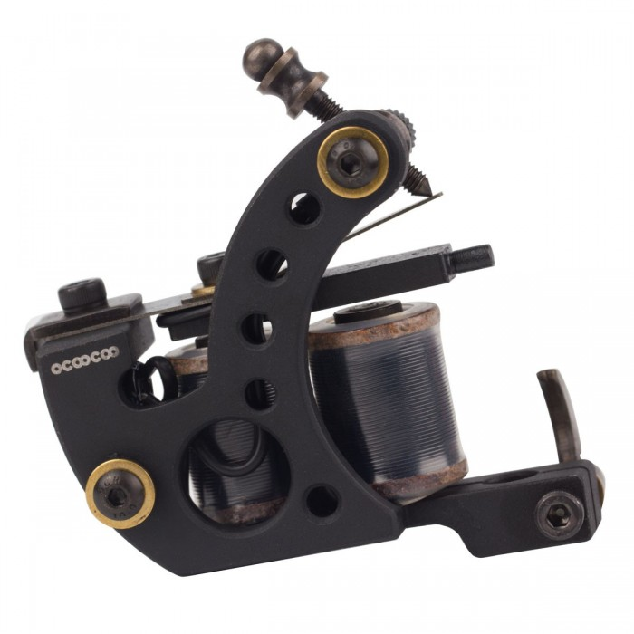 OCOOCOO Zuan ST200 Japan OFC Warps Coils Carved Iron Master Secant Tattoo Machine High Performance