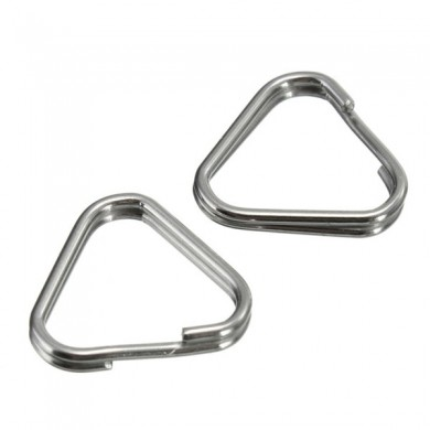 2Pcs Replacement Metal Chrome Finish Split Ring Camera Strap Triangle Rings Hook