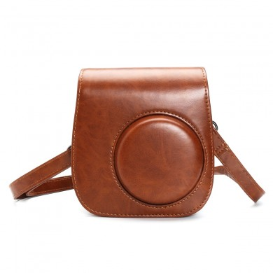 Camera PU Leather Case Shoulder Case Bag for Fujifilm Instax Mini8 Camera