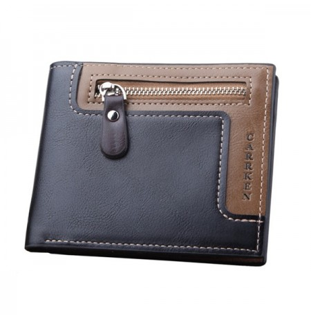 IPRee® Men's Short Wallet Leather Travel Trifold ID Credit Card Holder Coin Purse
