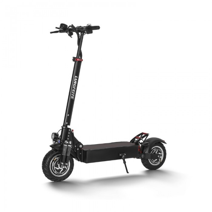 Langfeite L9 26ah 52v 1000w Dual Motor Folding Electric Scooter 10 Inch 60km H Top Speed Range 70km Mileage Double Brake System