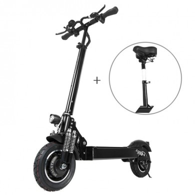 Janobike T10 2000W Dual Motor 23.4Ah 10 Inches Folding Electric Scooter with Seat 70km/h Top Speed 80km Mileage Range Max Load 2