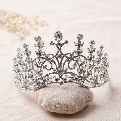 Bride Rhinestone Crystal  Pageant Tiara Luxury Bridal  Wedding Crown Jewelry