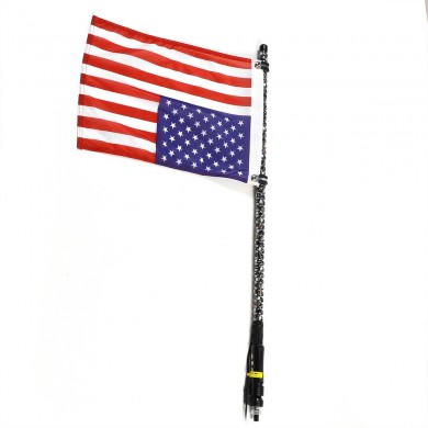 America Flag LED Flagpole Light Whip Lamp Lighted Whip with Remote Control 3ft/4ft for Sand Rails Buggies SxS ATV UTV