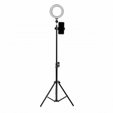 16cm LED Video Ring Light 5500K Regulable con 160cm Soporte de luz ajustable para Youtube Tiktok Live Streaming