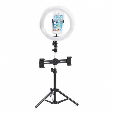 8 Inch Video fotografía Live Streaming Ring Light con soporte de luz de 50 cm 3 Clip para teléfono