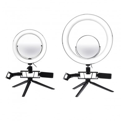 8.7/12.6 Inch Dimmable 120 LED Video Ring Light Tripod Stand Kit for Youtube Tik Tok Live Streaming