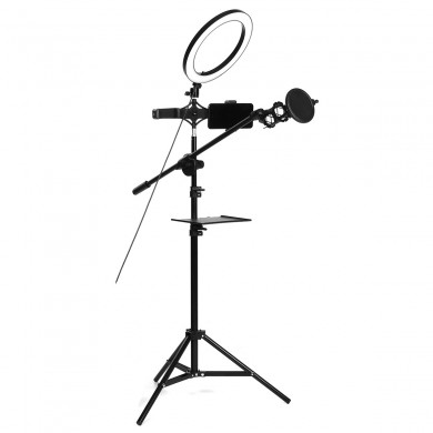 16/26cm LED Dimmable Video Ring Light with Phone Holder bluetooth Selfie Shutter for Youtube Tik Tok Makeup Live Streaming