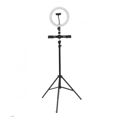 26cm LED Selfie Make-up Video Ring Light Studio Cámara con soporte de luz trípode obturador bluetooth Youtube Tik Tok Transmisió