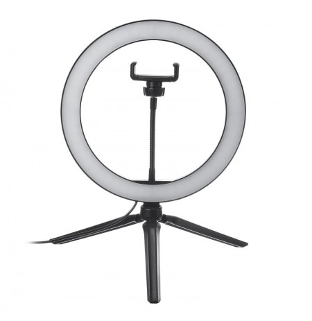 10 Inch Regulable LED Selfie Video Ring Light con trípode Soporte para teléfono de soporte para Youtube Tik Tok Live Streaming M