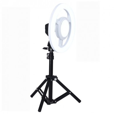 24W 5500K 10 Inch LED Video Ring Light Round Selfie Lámpara Con 50CM trípode Light Stand