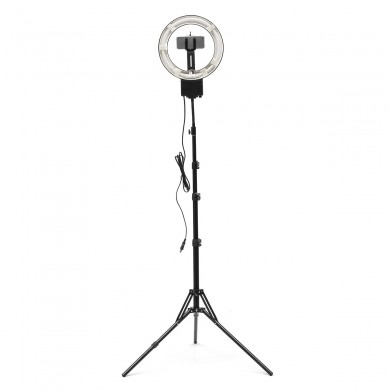 10 Inch Regulable 5400K Video Ring luz LED Plegable trípode Stand Holder para Ring Light VR Proyector