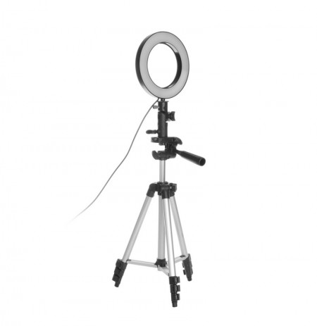 Anillo de luz LED Photo Studio Cámara Fotografía de luz Luz de video regulable para Youtube Maquillaje Selfie con soporte para t