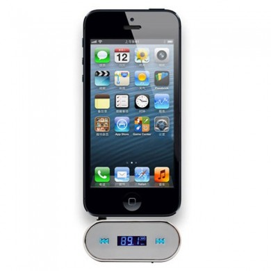 3.5mm Car FM Transimittervs Hands Free for iPad iPhone 3G Lcd Display