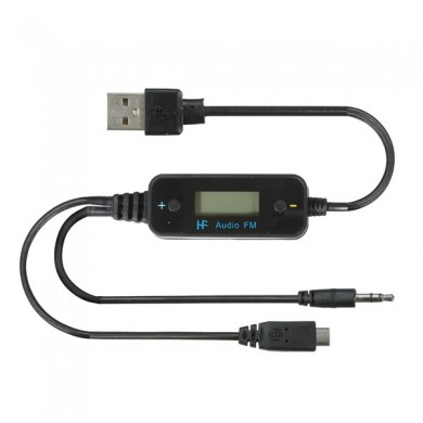 Reproductor de audios transmisor coche para iPhone5 4s samsung media