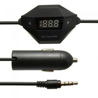 Universal Car Wireless FM Radio Transmitter 3.5mm Hands Free For IPHONE IPAD