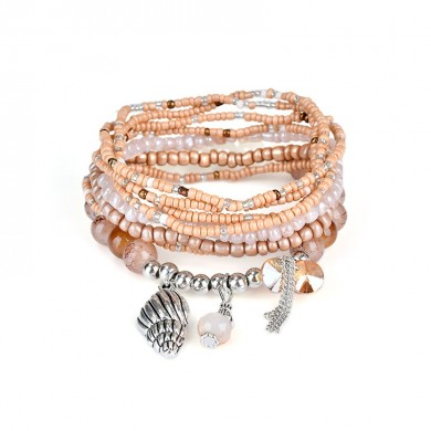 Bohemian Mulchayer Conch Crystal Tassel Pingente Bead Bracelet Jóias para Mulheres Best Gift