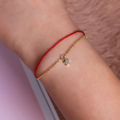 Luxury 925 Sterling Silver Red Rope Lucky Charm Bracelet