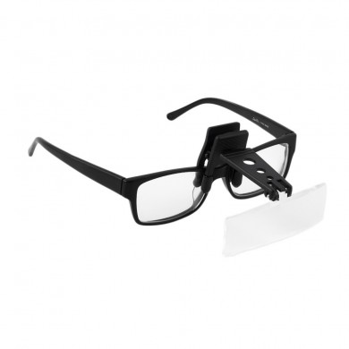 Folding Eyeglasses Clip On Flip Loupe Magnifying Glass Hands Free Precise Magnifier Creative Design