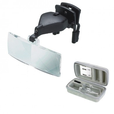 MG19157-2 1.5X 2.5X 3.5X Glasses Clip Magnifier with Light Multiple lenses Replaceable