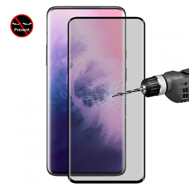 ENKAY 9H 3D Anti-explosion Anti-peeping Hot Blending Full Coverage Tempered Glass Screen Protector for OnePlus 7 Pro / OnePlus 7