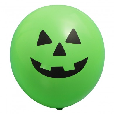 20X Pumpkin Printed Smiling Face Balloons For Halloween Party 30cm