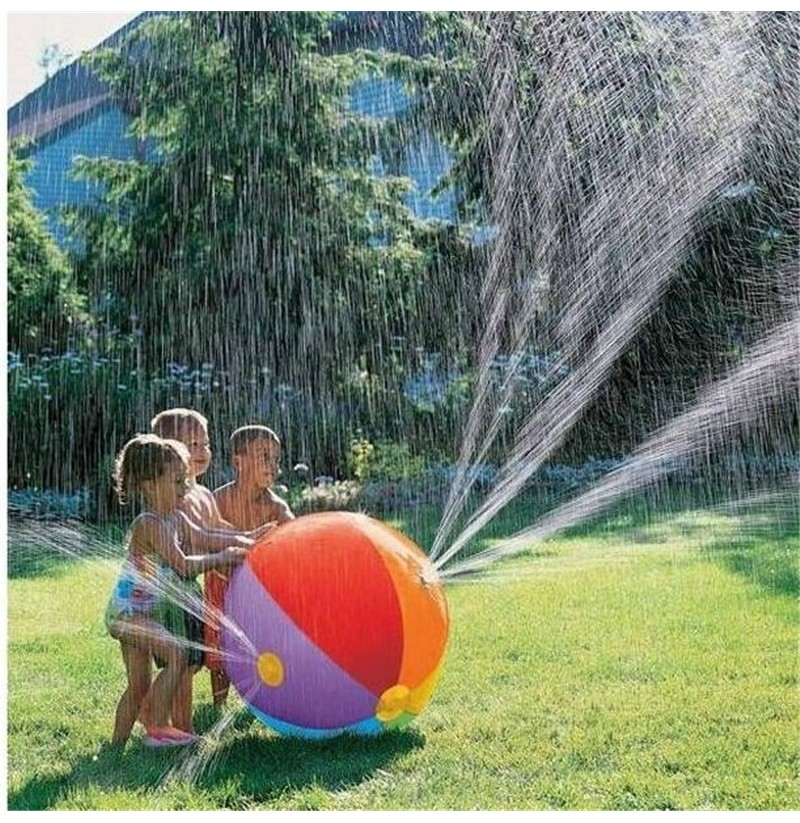 Inflatable Water Spray Toy Summer Outdoor Beach Ball Toys ...