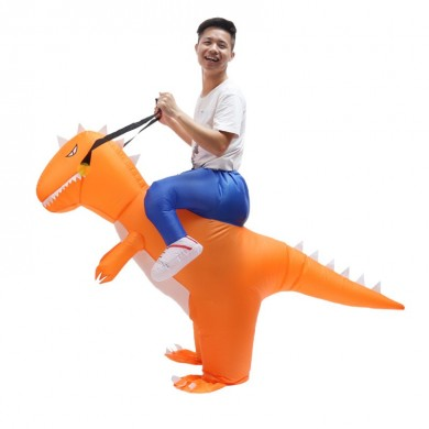 Traje inflable de Halloween Adulto T-Rex Dinosaurio Traje Blowup Dragón Ride Outfit