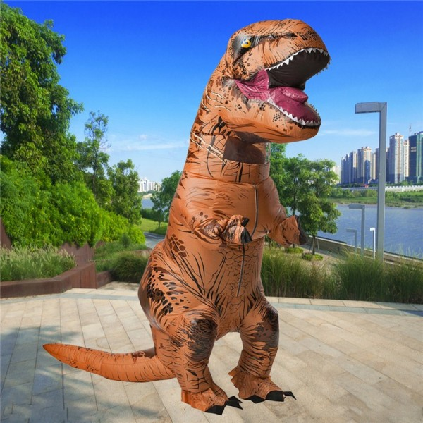Halloween Inflatable Clothing Dinosaur Adult Models Air Blowing Up Costume Funny Toys